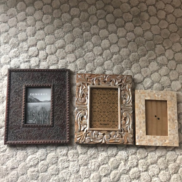 Multiple Other - 3 Set Picture Frames Wood/Shell (3 for $10 Item)